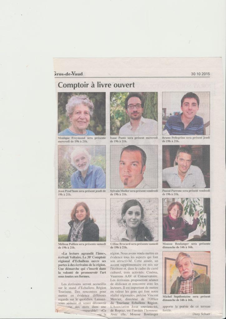article Echos Gros de Vaud 1