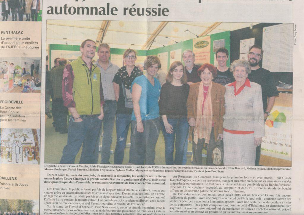article Echos Gros de Vaud 2